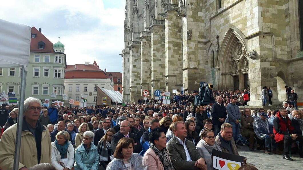Merkel In Regensburg