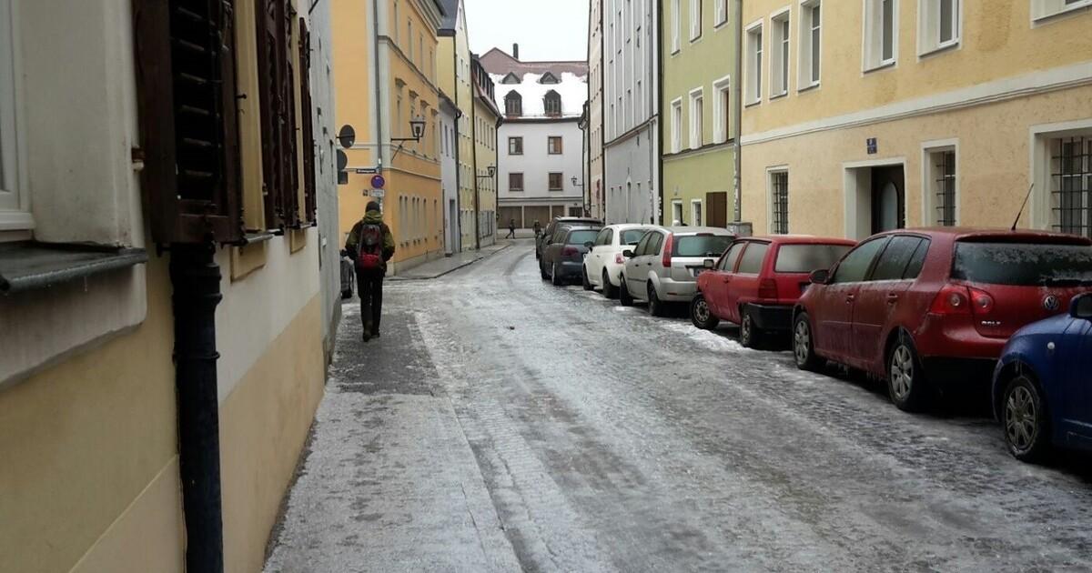 Regensburg Glatteis
