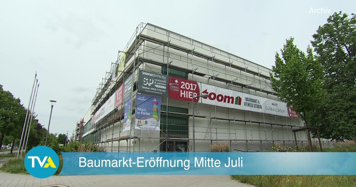regensburg neuer baumarkt er ffnet am 17 juli tva. Black Bedroom Furniture Sets. Home Design Ideas