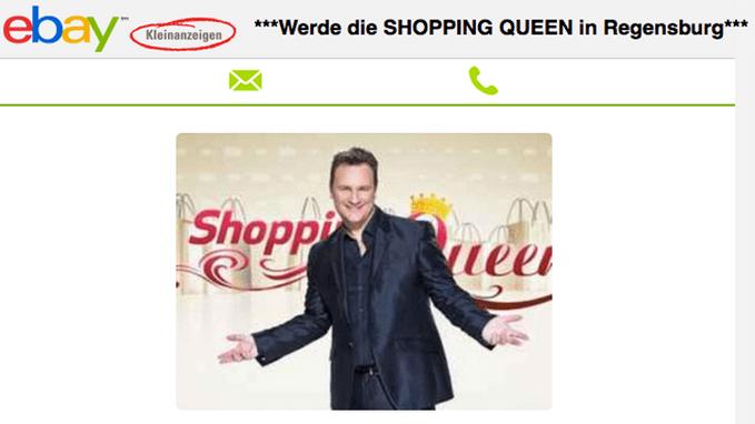 shopping queen gro er ansturm in regensburg tva. Black Bedroom Furniture Sets. Home Design Ideas
