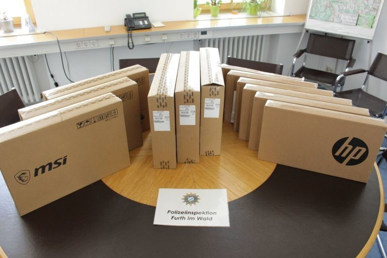 Notebooks, Diebstahl, © Polizeiinspektion Furth im Wald