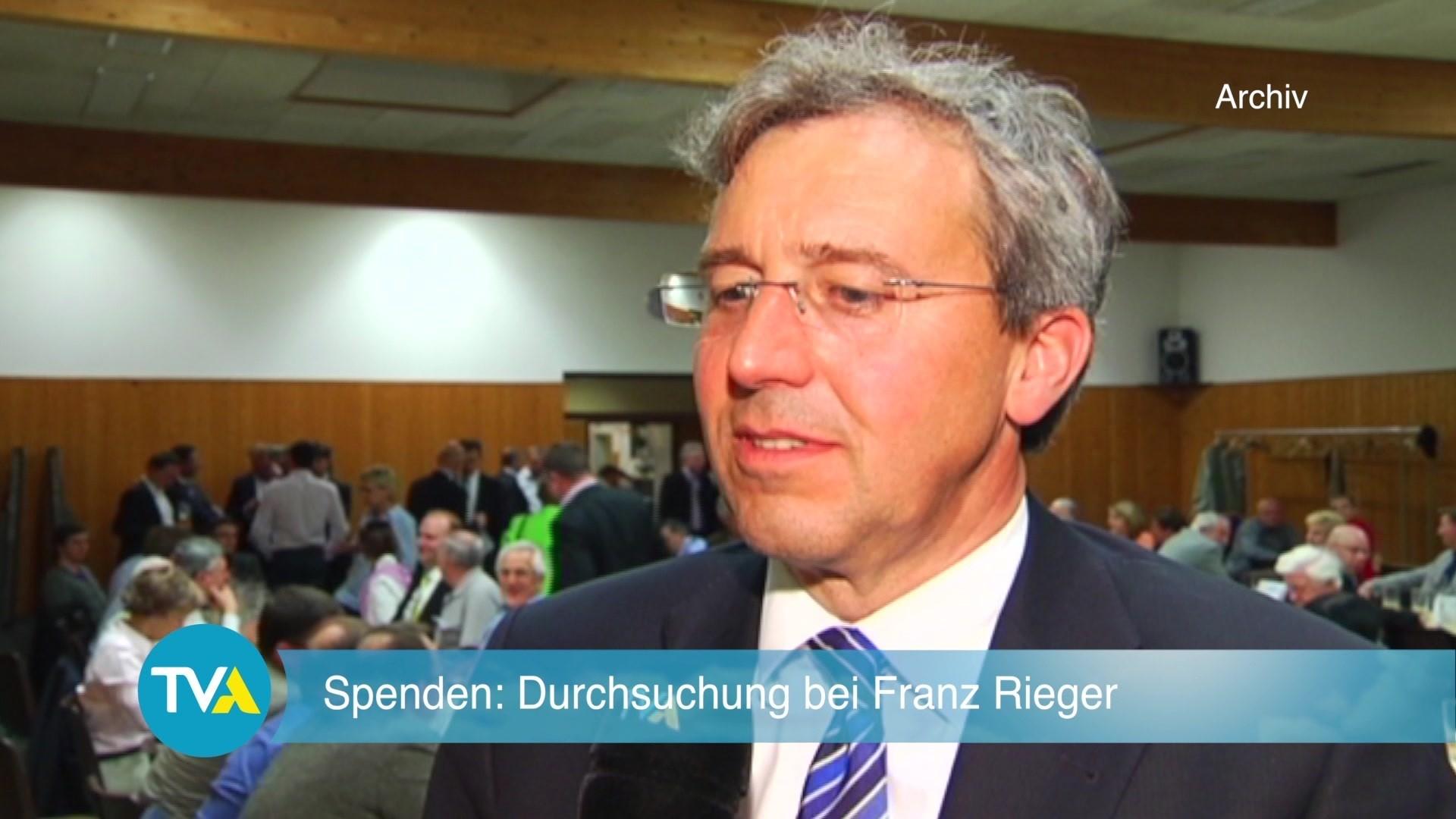 Spendenermittlungen Durchsuchung Bei Franz Rieger Tva