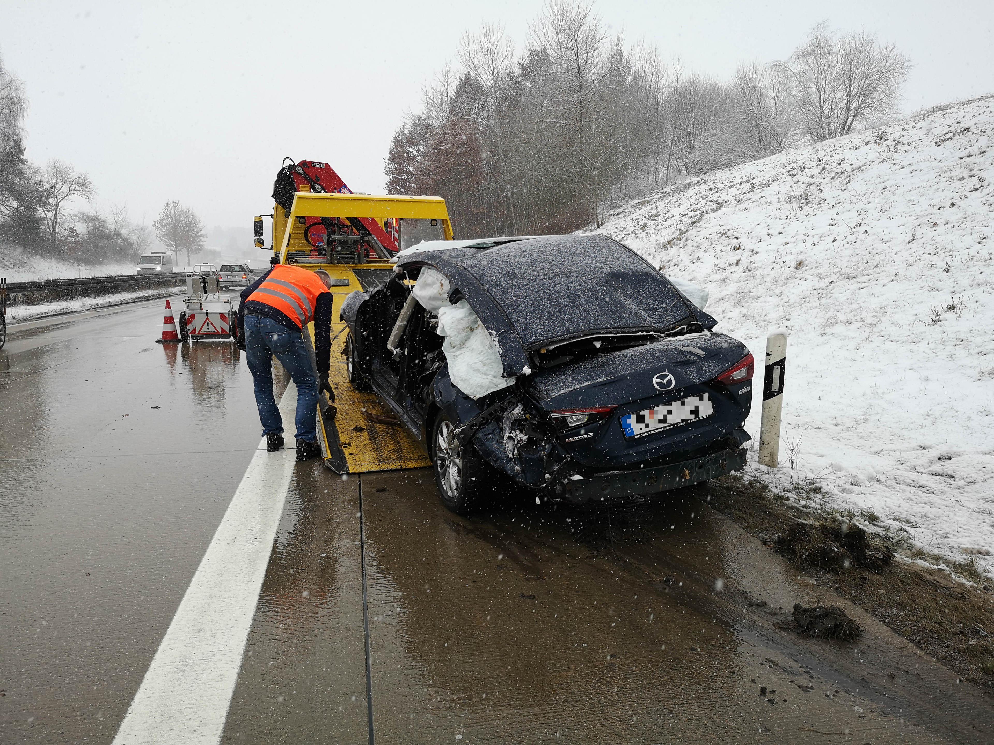 Unfall B16 Bad Abbach